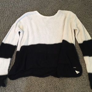 Black and white cute volcom sweater